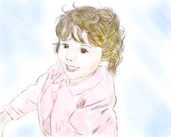 Converted to a Digital Pastel Drawing