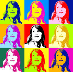 Converted to a Pop Art Style